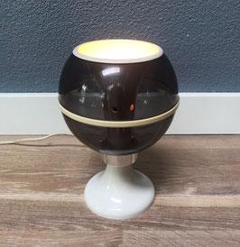 Globe tafellamp grijs wit