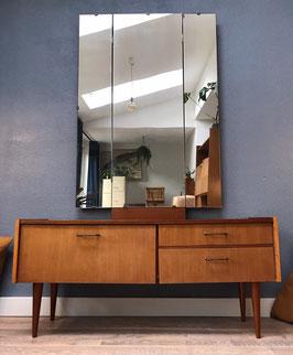 Vintage kaptafel met spiegel