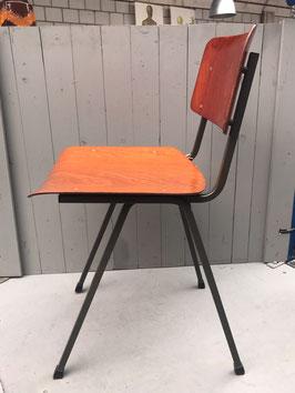 Schoolstoel - donkergrijze vierkante poten