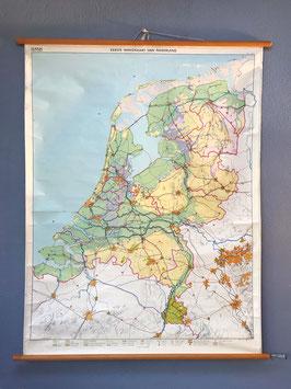 Schoolplaat: Eerste Wandkaart van Nederland