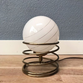 Tafellamp messing spiraal