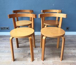 Set 4 stoelen - stijl Alvar Aalto
