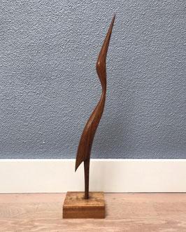 Slanke houten vogel