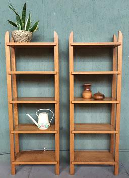 Set vintage boekenkasten