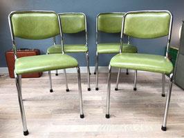 Vier groene stoelen van Tavo