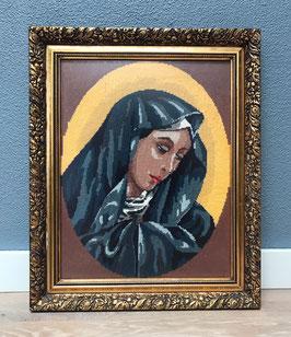 Borduurwerk Maria in lijst