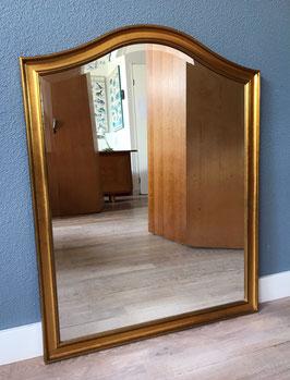 Goudkleurige spiegel - geslepen glas
