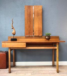 Vintage houten kaptafel