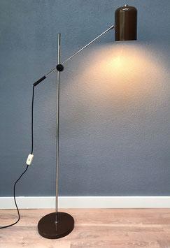 Bruine staande lamp