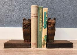 Uil op boek - set boekensteunen