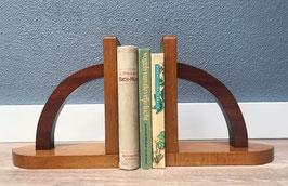 Houten boekensteunen