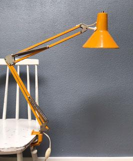 Gele scharnierlamp / bureaulamp