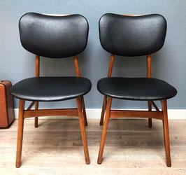 Zwarte vintage stoel, per stuk