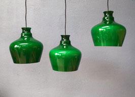 Set van 3 glazen hanglampen