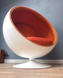 Ballchair oranje wit