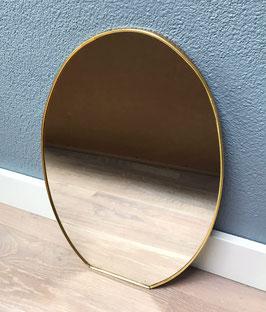 Ovale goudkleurige spiegel