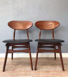 Set Teeffelen stoelen - zwart