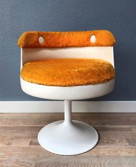 Oranje space age stoel