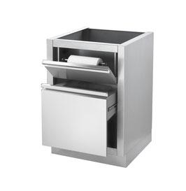 Mülleimer-Schrank m. Küchenrollenhalter