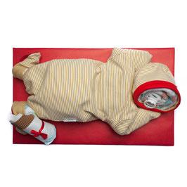 Pamper baby (beige, strepen)