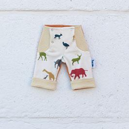 Broek - Gazelle (beige, strepen & dieren)