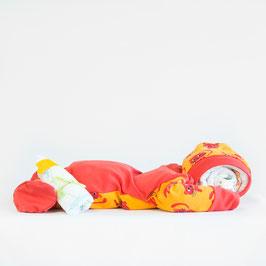Pamper baby (rood met snoezige poesjes)