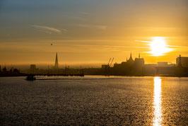Hansestadt Rostock Sonnenaufgang I digitaler Dateidownload