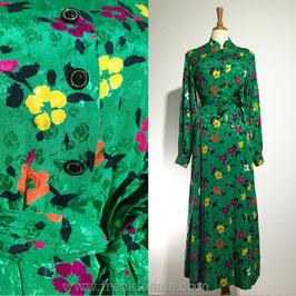 Floral Green 70s dress, Japan | M
