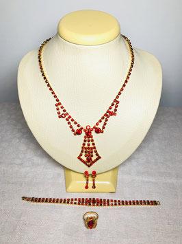 Swarovski Crystal 60s Necktie Princess Set