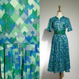 Ocean Cubes 60s dress, Europe | M