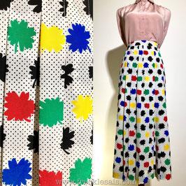 Pop art 80s flare skirt, Europe | L