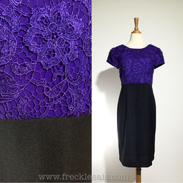 Crochet Sheath 80s dress, Europe | M