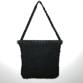 Black Crochet Handbag 70s