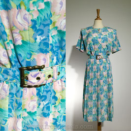 LESLIE FAY 80s Floral, USA | M
