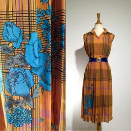 Orange Flair 70s dress, Japan | M