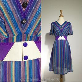 Purple Hues 60s dress, Japan | S-M