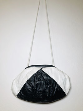 Black White Oval 80's Sling Bag, USA