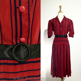 Red Lines 80s dress, Europe | M