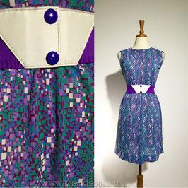 Pixel Flakes 70s dress, Japan   M