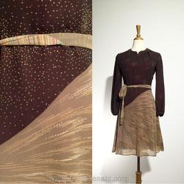 Cosmic Brown 60s dress, Japan | S