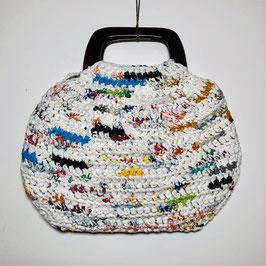 Colourful 70s raffia crochet Shopper Handbag, Europe