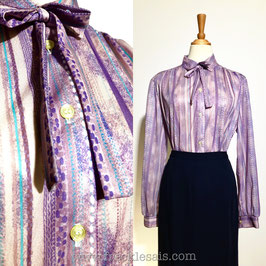 Trevira Purple 70s blouse, Europe | M