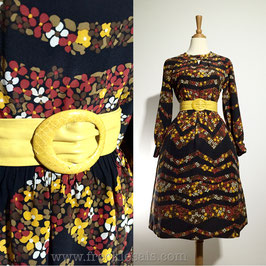 Autumn Floral 60s dress, Europe | S