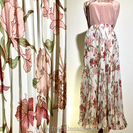 Floral Pleats 70s flare skirt, Italy   M-L
