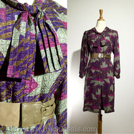 Ascot Purple 60s dress, Japan | L