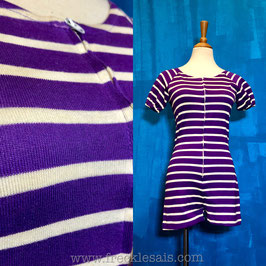 Striped purple 60s Playsuit, Europe | S