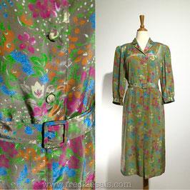 Art Floral 60s dress, Japan | L