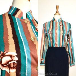 Beeline ILGWU 70s shirtblouse,USA | L