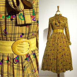 Dior Gold 70s dress, Japan   S