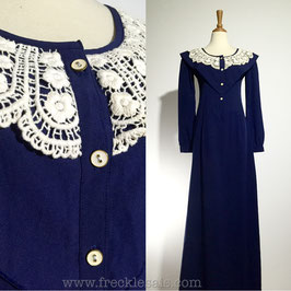 Austen Crochet 70s dress | S-M
